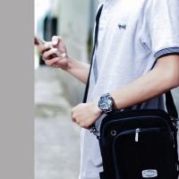 Tas Selempang Pria Kecil Pouch HP/Tablet/Gadget/ Trojika T-MAN