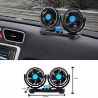 Kipas Angin Untuk Mobil - Dual Head Fan 360 Degree