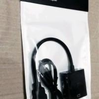 AY Kabel Hdmi To Vga With Audio Black