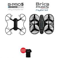 BRICA SE Sky Explorer Drone + BRICA INVRA 5 Hybrid Drone - Black