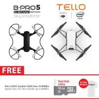 BRICA SE Sky Explorer Drone + Drone Ryze DJI Tello Drone 16GB - White
