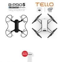 BRICA SE Sky Explorer Drone + Drone Ryze DJI Tello Drone - White