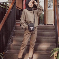 Celana Wanita Muslim Panjang Murah Model Terbaru Import AMERICAN DRILL