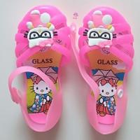 Sepatu Anak Perempuan Jelly Shoes Wanita Sandal Hello Kitty Cewek Led