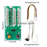 Three Power 24Pin Synchronous Starter Board 4Pin IDE Switch Cable For