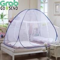 Kelambu tudung 180 x 200 cm kanopi tenda tempat tidur