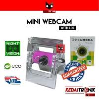 Diskon - Webcam Mini Capit PC Camera Jepit Web USB Microphone LED