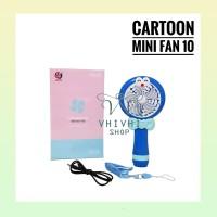 Cartoon Mini Fan 10/ Kipas Angin Karakter/ Hello Kitty/ Doraemon