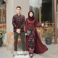 Cp Zahra/Batik Couple/Batik Prada/Baju Kondangan/Baju Pesta/Batik