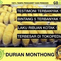 DURIAN MONTONG/MONTHONG THAILAND - 100% MANIS - 700-800 gr EXPORT QTY