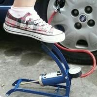 High Pressure Foot Pump Pompa Angin Injak Gas Ban Mobil Motor Sepeda