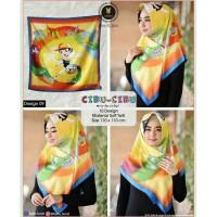 HIGH QUALITY Jilbab hijab segi empat cibu-cibu motif kartun lucu JOAA