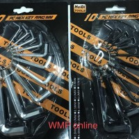 Paling Terlaris Kunci L set 10pc Hex Key Ring