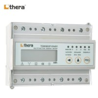 THERA TEM045XP-D, DIN-Rail kWh Meter 3-Phase LCD 1-Tariff, Modbus-RTU