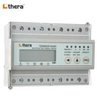 THERA TEM065XP-D, DIN-Rail kWh Meter 3-Phase LCD 2-Tariff, Modbus-RTU