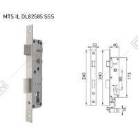 Body Mortise Door Lock Dekkson MTS IL DL 82585 SSS Profil Aluminium