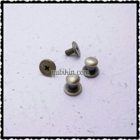 12 Piece Baut Pentol 6mm Untuk Kaitan Gelang Kulit Warna Emas Bakar