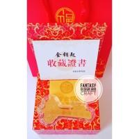 hadiah kunci emas gold key / angpao sangjit / pernikahan / ulang tahun