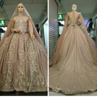 gaun kebaya pengantin baju nikah muslimah set slayer MOCCA