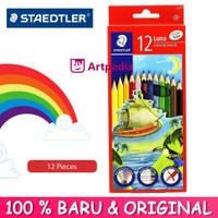 Staedtler Luna Coloured Pencil 12 /Pensil Warna Set 12 Free Sharpener