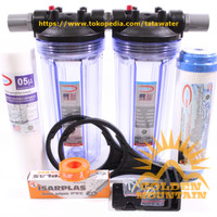 """Paket SAFE 2 Saringan / Filter Air Siap Pakai (Clear 10"""" - 3/4"""" SG)"""