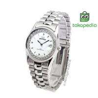 Jam tangan Wanita Mirage Permata Original Silver