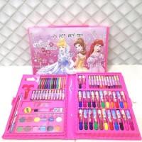 crayon set isi 86 pcs / alat mewarnai anak
