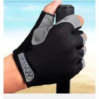 Huwai Sarung Tangan Half Finger Sepeda Gym Size M - Black