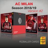 Fezballer Cards kartu bola edisi AC MILAN (versi 2) season 2018/2019