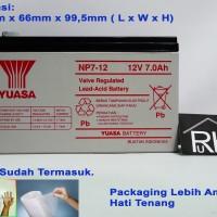 Baterai Aki Kering UPS YUASA NP7-12 12v 7ah Garansi Resmi (Original)