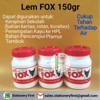 Harga lem fox putih botol 150gr lem putih pvac lem kayu bahan | antitipu.com
