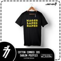 Kaos Mager Laper Baper - Black