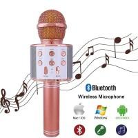 🚚✔ Wireless Bluetooth Microphone WS858 Karaoke KTV MIC Speaker