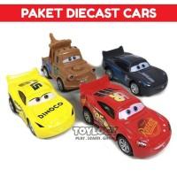 Mainan Anak Paket Diecast Cars Lightning McQueen isi 4 Mobil Pull Back