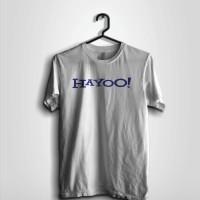 Kaos Hayoo Putihwhite Kaos Plesetan Logo Yahoo Kaos Humor Kaos Lu