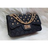 Promo Diskon - Tas Sling Bag Jelly Matte Webe Anyam DIAMOND UK 22 CM 92d835427d