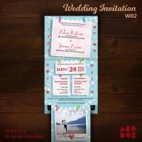 Undangan Pernikahan Kreatif Unik Murah Polaroid Wedding Invitation W02