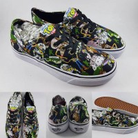 AJ03 Sepatu Kets Vans Authentic X Disney Toy Story Collections Black