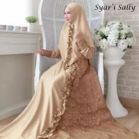 Baju syar'i gamis sally dress muslim pesta murah busui terlaris