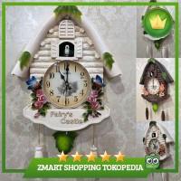 Cute Large Birdcall Cuckoo House Wall Clock Home Kid Room Decor