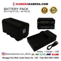 Battery Pack for Sony NP-F750/F770 and LED Light + Charger