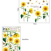 wall sticker bunga matahari sunflower