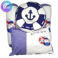 Bantal Bayi Motif Sailor / Baby Pillow Set Captain Own (4 pcs) Biru