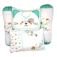 Bantal Bayi Motif Kucing / Baby Pillow Set Cutie Kitty (4 pcs) Tosca