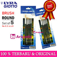 LYRA ART BRUSH SET ROUND / KUAS BULAT SET