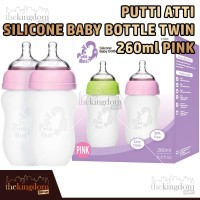Putti Atti Silicone Baby Bottle Twin 260ml Pink Botol Susu Bayi