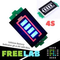 4S 16.8V Lithium Battery Capacity Indicator LED Power Level Baterai