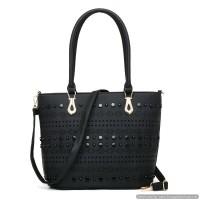 tas handbags hitam big size wanita kerja hangout reuni simple unik cnk