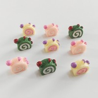 Happy Monkey 15pcs/pack Slime Supplies Toys New DIY Resin Love Cake Sl