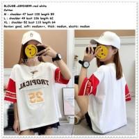 Jual Baju Atasan Kaos Katun Wanita Blouse Korea Import AB934
